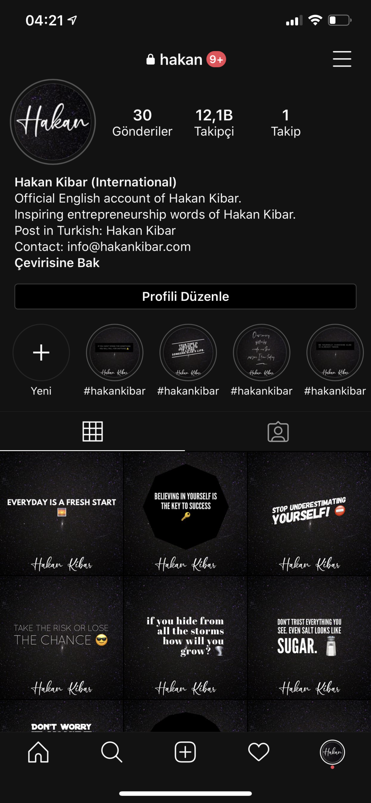 Hakan Kibar (International) instagram hakan account profile picture